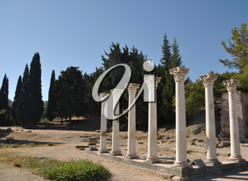 Royalty Free Photo of the Ruins of Asklepieion in Kos, Greece