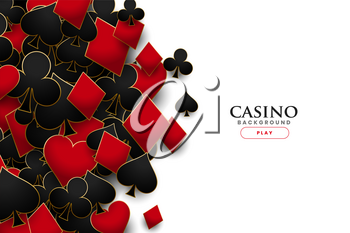 casino playing cards symbols realistic background