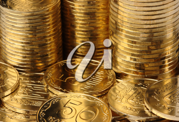 Royalty Free Photo of a Closeup of Coins