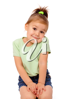 Royalty Free Photo of a Cute Little Girl Shrugging