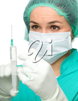 Royalty Free Photo of a Nurse With a Syringe