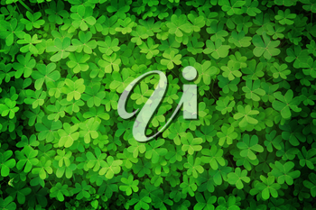 green clover background in vintage style