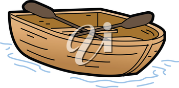 Royalty Free Clipart Image of a Rowboat
