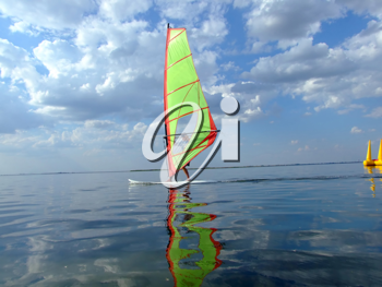 Royalty Free Photo of a Windsurfer