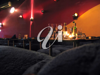 Royalty Free Photo of Drinks on a Table in a Nightclub