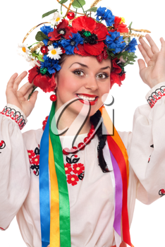 Royalty Free Photo of a Woman in a Traditional Costume