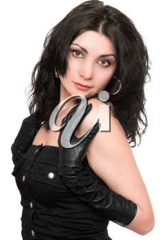 Royalty Free Photo of a Woman in Black