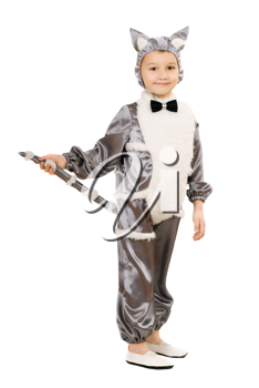 Royalty Free Photo of a Boy in a Cat Costume