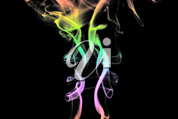Royalty Free Photo of Colourful Smoke