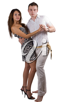 Royalty Free Photo of a Couple Dancing