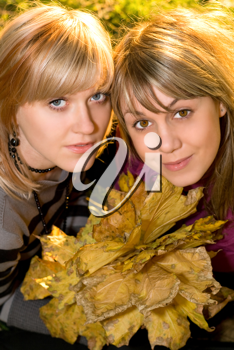 Royalty Free Photo of Two Women in Autumn