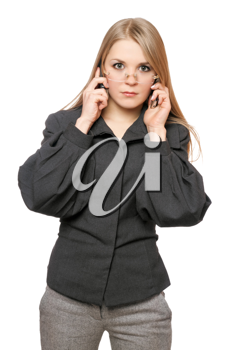 Royalty Free Photo of a Woman on the Phone
