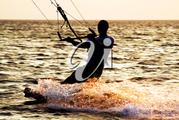 Royalty Free Photo of a Kite Surfer
