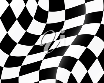 Royalty Free Clipart Image of a Checkered Flag Background