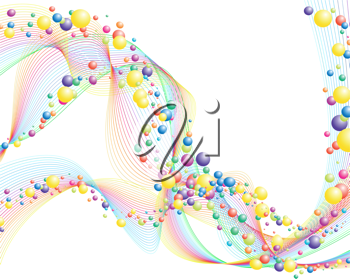Colourful lines background on sea theme for design use