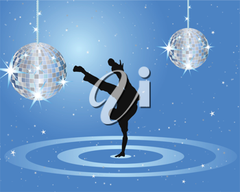 Nightclub dancer theme. Vector illustration for design use.