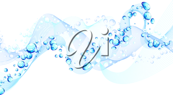 Abstract water background with bubbles of air