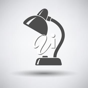 Lamp icon on gray background with round shadow. Vector illustration.