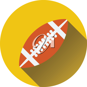 Flat design icon of American football ball in ui colors. Flat design. Vector illustration.