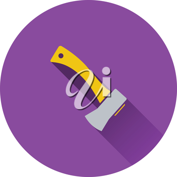Icon of camping axe. Flat design. Vector illustration.