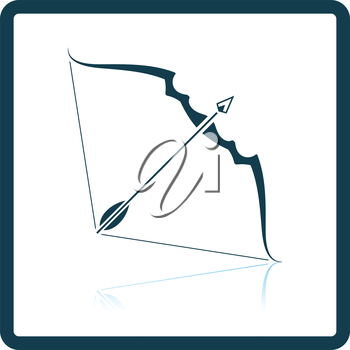 Bow and arrow icon. Shadow reflection design. Vector illustration.