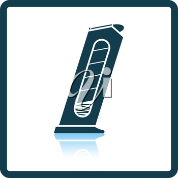 Gun magazine icon. Shadow reflection design. Vector illustration.
