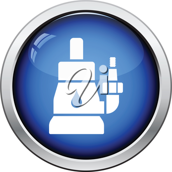 Submersible water pump icon. Glossy button design. Vector illustration.
