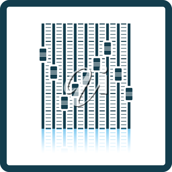Music equalizer icon. Shadow reflection design. Vector illustration.