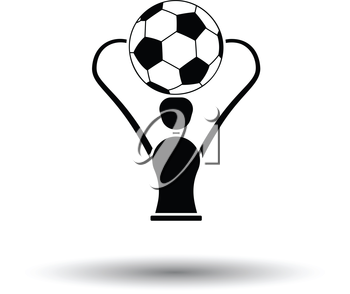 Soccer cup  icon. White background with shadow design. Vector illustration.