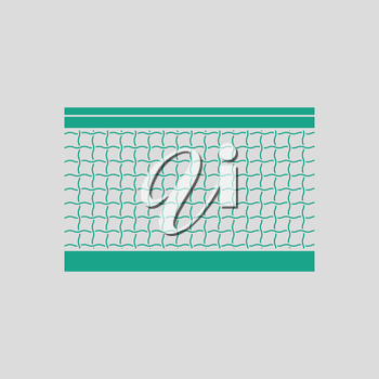 Tennis net icon. Gray background with green. Vector illustration.