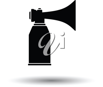 Football fans air horn aerosol icon. White background with shadow design. Vector illustration.
