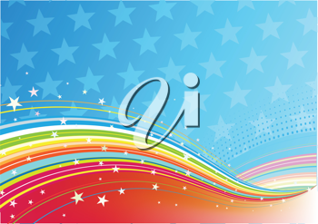 Royalty Free Clipart Image of a Fourth of July Background