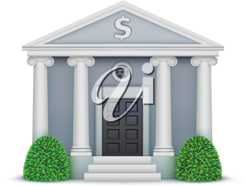 Royalty Free Clipart Image of a Bank