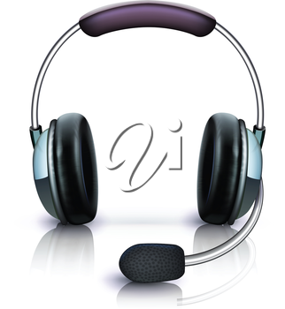 Royalty Free Clipart Image of a Headset
