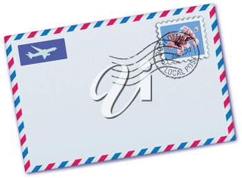 Royalty Free Clipart Image of an Airmail Envelope