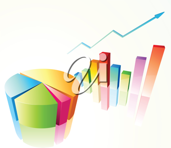 Royalty Free Clipart Image of Charts