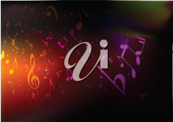 Royalty Free Clipart Image of an Abstract Music Background