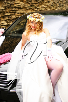 Royalty Free Photo of a Bride Posing on a Card