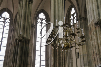 Details of the interior of St. Martins Cathedral in Utrecht, the Netherlands