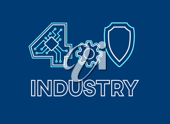 Modern industrial manufacturing concept Industry 4.0. Safety Automation Smart Machine technology.