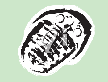 Royalty Free Clipart Image of a Trilobite