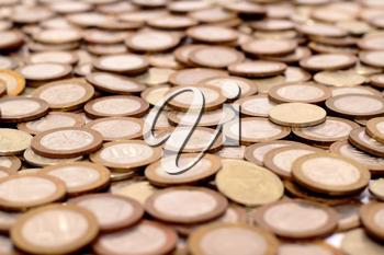 Royalty Free Photo of a Pile of Coins
