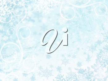 Royalty Free Clipart Image of a Light Sprinkle of Snowflakes