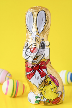 Royalty Free Photo of a Chocolate Easter Bunny