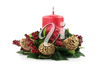 Royalty Free Photo of a Christmas Candle