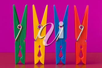 Royalty Free Photo of Clothespins