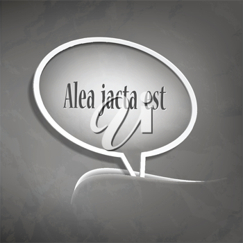 Royalty Free Clipart Image of a Speech Bubble