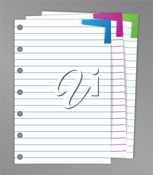 Royalty Free Clipart Image of Pieces of Paper