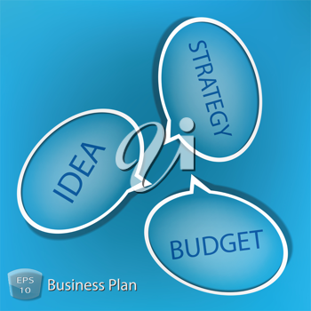 Royalty Free Clipart Image of a Business Plan