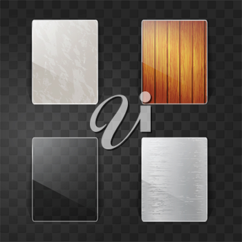 Royalty Free Clipart Image of Different Materials